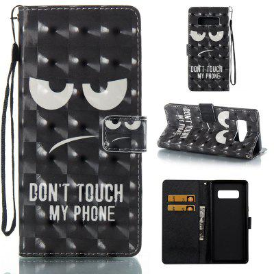 Black Eyes 3D Painted Pu Phone Case for Samsung Galaxy Note 8