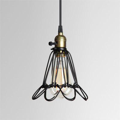 Brightness Black Metal Vintage Style Industrial Opening And Closing Hanging Light Pendant Wire Cage Guard