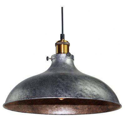 Buy SILVER GRAY brightness Vintage Pendant Lights Industrial Silver Gray Metal Dining Room Hallway Cafe Bars Clothing Store Lighting Diameter 36CM for $73.57 in GearBest store