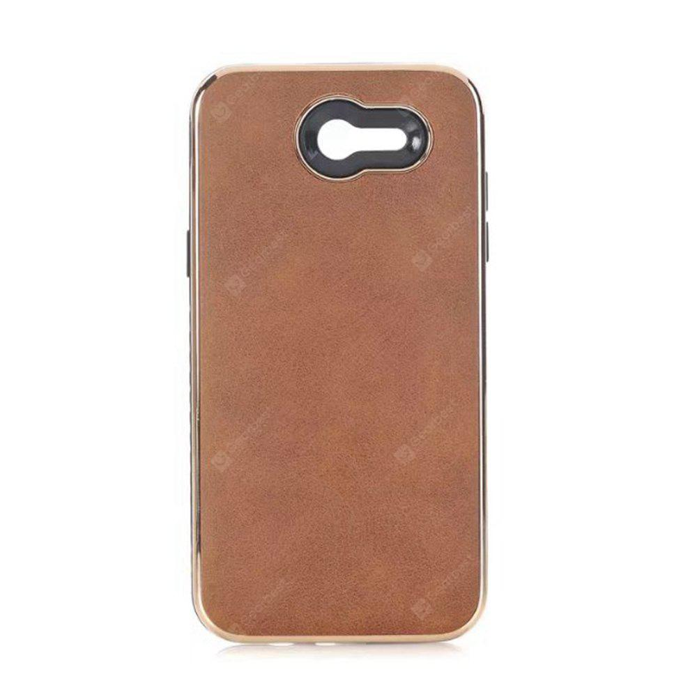 Wkae Ultra Thin Light Weight Retro Crazy Horse Leather Skin Dual Layer Pc Tpu Hybrid Shell Cover Case for Samsung Galaxy J5 2017