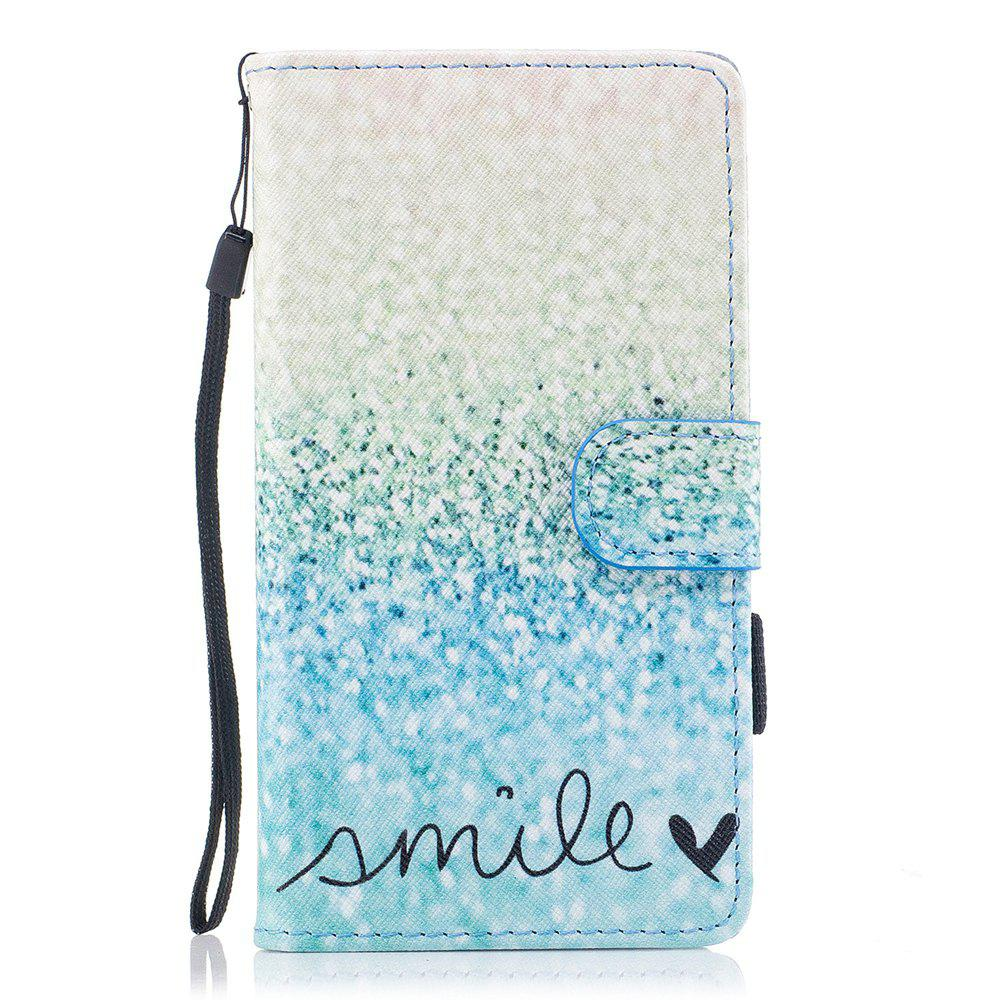 #05 Color Pattern Flip PU Leather Wallet Case with Sling for Huawei Honor 9