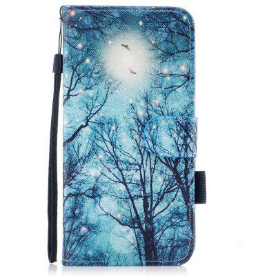 Color Pattern Flip PU Leather Wallet Case with Sling for iPhone 6S Plus