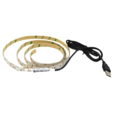 USB Powered 1M 5050 RGB 30 LEDs Strip Light for Background Decor with 44 Key Remote ControlLED Strips<br>USB Powered 1M 5050 RGB 30 LEDs Strip Light for Background Decor with 44 Key Remote Control<br><br>Beam Angle: 120 Degree<br>Color Temperature or Wavelength: 625nm/520nm/455nm<br>Features: Festival Lighting<br>LED Quantity: 30<br>Length ( m ): 1<br>Light color: RGB<br>Light Source: LED<br>Package Content: 1 x LED Strip, 1 x Mini Controller<br>Package size (L x W x H): 13.70 x 13.80 x 3.00 cm / 5.39 x 5.43 x 1.18 inches<br>Package weight: 0.1000 kg<br>Power Supply: USB Cable<br>Product weight: 0.0800 kg<br>Type: LED Strip Light<br>Voltage: DC 5V<br>Waterproof Rate: IP65<br>Wattage (W): 40W