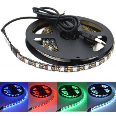 Buy BLACK WHITE DYY USB Waterproof Background LED Light Strip 1M 5050RGB 60 Beads with 44-key Controller for $11.75 in GearBest store