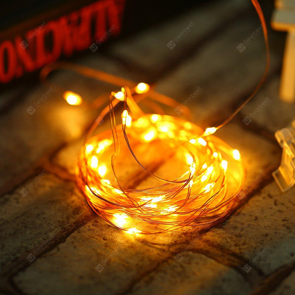 WARM WHITE LIGHT YWXLight 5M LED Christmas Fairy Lights Battery-powered Copper Wire Starry String