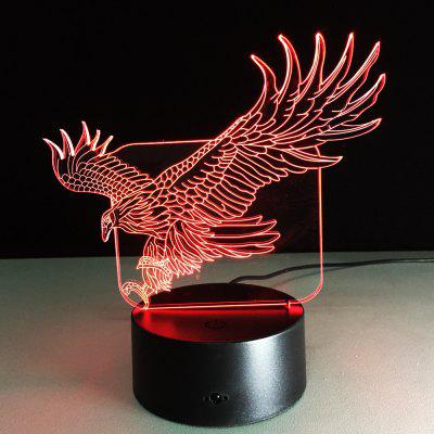 Yeduo 3D Illusion Bulding Night Light Ton Led Lamp Colors Change Art Sculpture Table Light Produces Unique Dog Ostrich Dragonfly Eagle