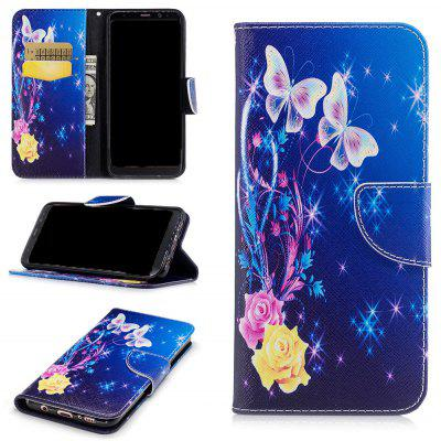 Buy COLORMIX Yellow Butterfly Painted Pu Phone Case for Samsung Galaxy S8 Plus for $5.49 in GearBest store