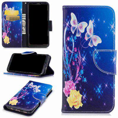 Buy COLORMIX Yellow Butterfly Painted Pu Phone Case for Samsung Galaxy S8 for $5.38 in GearBest store