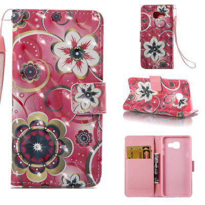 Tulip Flower 3D Painted Pu Phone Case for Samsung Galaxy A3 2016