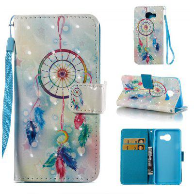 Feather Wind Chimes 3D Painted Pu Phone Case for Samsung Galaxy A5 2016
