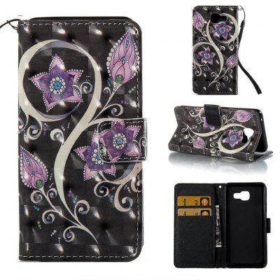 Peacock Flower 3D Painted Pu Phone Case for Samsung Galaxy A5 2016