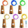 Supli 6 Pack 12M( 2M x 6 )120led with Screwdriver A Bottle Lights Fairy String Lights Warm White White Red Yellow Blue Green Purple Pink Multi Color - RGB COLOR