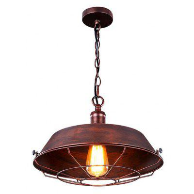 Buy RED WITH BLACK Brightness Industrial Pendant Light Retro Edison Rustic Chandelier Iron Hanging Warehouse Barn Ceiling Pendant Lighting Diameter 36CM for $64.73 in GearBest store
