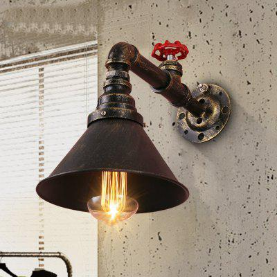 Buy BRONZED Brightness Retro Industrial Style Water Pipe Wall Light Restaurant Cafe Bars Bar Wall Sconces 110 120V for $54.60 in GearBest store