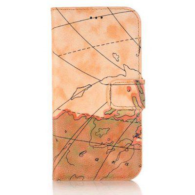 Wkae Retro Color Printing Pattern Premium Pu Leather Wallet Case Cover with Card Slots And Kickstand for Iphone x