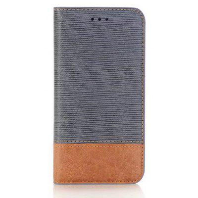 Wkae Cross Lines Mixed Colors Pattern Premium Pu Leather Wallet Case Cover with Card Slots And Kickstand for Iphone x