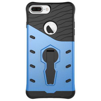 Wkae Tough Hybrid Heavy Duty Defender Dual Layer Armor Combo With 360 Degree Swivel Stand Cover Case for iPhone 7 Plus a