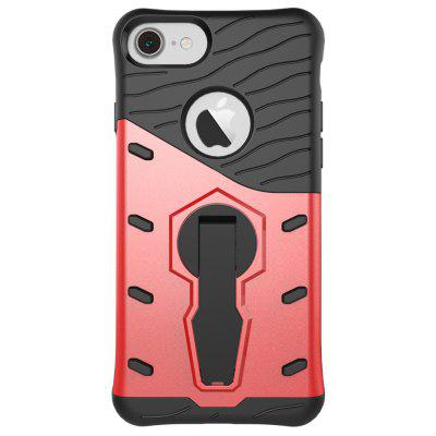 Wkae Tough Hybrid Heavy Duty Defender Dual Layer Armor Combo With 360 Degree Swivel Stand Cover Case for iPhone 7 and iP