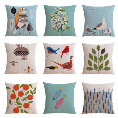 9PCS Good Quality Nature Home Decoration Linen Cushion Covers