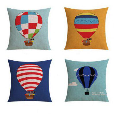 4PCS Good Quality Hydrogen Balloon Home Decoration Linen Cushion Covers