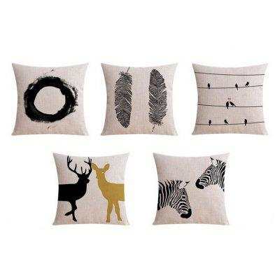 5PCS Good Quality Home Decoration Linen Cushion Covers