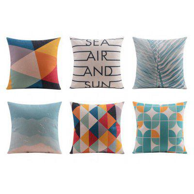 6PCS Good Quality Colorful Home Decoration Linen Cushion Covers