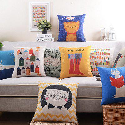 9PCS Good Quality Cat Home Decoration Linen Cushion CoversPillow<br>9PCS Good Quality Cat Home Decoration Linen Cushion Covers<br><br>Category: Pillow Case<br>For: All<br>Material: Cotton Linen<br>Occasion: Office, Dining Room, Bedroom, Bathroom, Kitchen Room, Living Room, KTV, Bar, School<br>Package Contents: 9 x Cushion Cover<br>Package size (L x W x H): 50.00 x 25.00 x 6.00 cm / 19.69 x 9.84 x 2.36 inches<br>Package weight: 1.8200 kg<br>Product size (L x W x H): 45.00 x 45.00 x 0.50 cm / 17.72 x 17.72 x 0.2 inches<br>Product weight: 1.8000 kg<br>Type: Fashion, Entertainment, Decoration, Safety, Eco-friendly, Comfortable, Leisure, Novelty