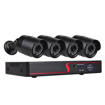 4 Channel Security Camera System with 4ch 1080N  AHD DVR 4 x 2.0MP Weatherproof Cameras with Night VisionSurveillance Camera System<br>4 Channel Security Camera System with 4ch 1080N  AHD DVR 4 x 2.0MP Weatherproof Cameras with Night Vision<br><br>Access points: 4<br>Audio Input/Output: 4/1<br>Display Frame Rate: 25<br>Hard disk: 1T - 6T<br>HDD: SATA<br>Main processor: Hi3520DV200<br>Mobile Device OS Support: IOS, Android, iPhone<br>Net Protocol: DDNS,DHCP,DNS,HTTP,LAN,NTP,P2P,PPPOE,SMTP,TCP/IP,UDP,UPNP<br>Network Function: Mobile/Email alarm function, Live monitoring, IE Viewer, DVR setting, Real-time network transmission<br>Network interface: RJ - 45<br>Network protocol: ARSP,DDNS,DHCP,DNS,FTP,HTTP,IP,LAN,NTP,ONVIF,P2P,PPPOE,RTSP,SMTP,TCP/IP,UDP,UPNP<br>Operating Temp.(?): 0-55<br>Optional Language: Chinese,English,French,German,Italian,Japanese,Portuguese,Russian,Spanish,Turkish<br>Package Contents: 1 x 4CH 1080N DVR, 2 x Power Adapter, 1 x USB Mouse, 1 x English Users Manual, 4 x 2.0MP AHD Camera, 4 x 18 Meters Cable<br>Package size (L x W x H): 35.00 x 20.00 x 14.50 cm / 13.78 x 7.87 x 5.71 inches<br>Package weight: 5.5000 kg<br>Pixels: 2MP<br>Power Cable Length: 1.2 meter<br>Power Supply (Surveillance System): 12V / 2A<br>Product size (L x W x H): 25.50 x 23.50 x 4.50 cm / 10.04 x 9.25 x 1.77 inches<br>Product weight: 1.2000 kg<br>PTZ: Suppport<br>PTZ Control: RS-485<br>PTZ Protocol: PELCO-D,PELCO-P<br>Record Frame Rate: 25<br>Record Resolution: 960*1080<br>Recording Backup: Backup by files,Backup by time,Mobile hard disk backup,Network backup,USB disk backup<br>Recording Mode: Motion Detection, Manual/Schedule, Alarm recording, Timer<br>Recording Playback: etc.,Optional channel playback simultaneously,Play by frame,Rapid play by times (fast backward),Remote file playback<br>Remote Access: ??<br>User interface: ??<br>Video Input/Output: 4/1<br>Video System: NTSC,PAL<br>Web Browser: CMS Software,Firefox,Google Chrome,IE,Microsoft Internet Explorer 6.0 above,Other Standard Browser,Safari<br>Working Humidity(%) RH: 10 - 90 percent