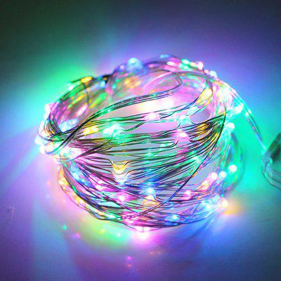 2PCS 5M 50LED 3AA 4.5V Battery Powered Waterproof Decoration Copper Wire Lights String