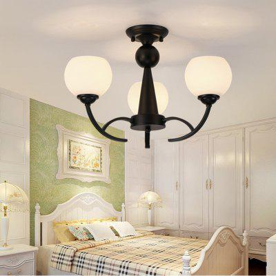 Buy BLACK Jueja Modern Minimalist Personality Art Iron Pendant Lights Bedroom Guest / Dining Room Glass Lampshade Ceiling Lights Home 3 Heads E27 Lamp Base 100 240V for $439.70 in GearBest store