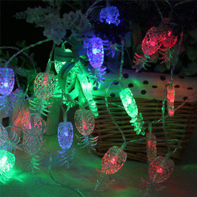 20PCS Led Pineapple Shaped Christmastree String Lights Decoration Colored Lights