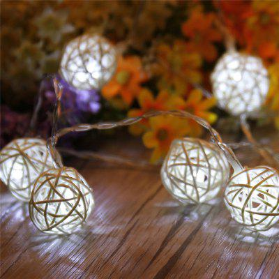 Buy WHITE 40-LED Thai Rattan Christmas Tree Chandeliers String Lights Decorated Colored Lamp for $13.61 in GearBest store