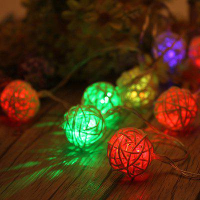 40PCS Led Thai Rattan Christmas Tree Chandeliers String Lights Decorated Colored Lights