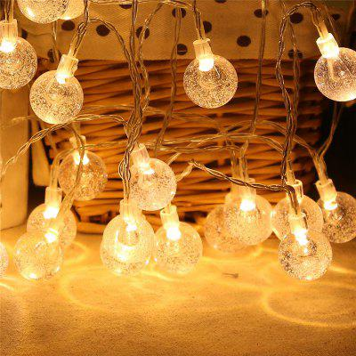 20-LED Bubble Ball Shaped Christmas Tree String Lights Decorated Colored Lamp 2m 20 led snowflake lights battery powered string lights for christmas party home decoration