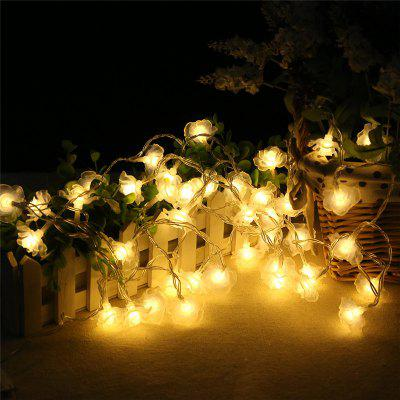 20-LED Rose Christmas Tree String Lights Decoration Colored Lamp