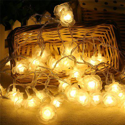 20-LED Rose Christmas Tree String Lights Decoration Colored LampDecorative Lights<br>20-LED Rose Christmas Tree String Lights Decoration Colored Lamp<br><br>Cable length: 2.2 m<br>Decorative Style: Simple and Modern<br>Features: Smart and power-saving<br>For: Restaurant, Hotel, Cafe, Office, Bar, Home<br>LED Quantity: 20 pcs<br>Material: Plastic<br>Package Contents: 1 x String Light<br>Package size (L x W x H): 18.00 x 5.00 x 5.00 cm / 7.09 x 1.97 x 1.97 inches<br>Package weight: 0.1000 kg<br>Power Supply: Battery<br>Product size (L x W x H): 220.00 x 7.50 x 5.00 cm / 86.61 x 2.95 x 1.97 inches<br>Product weight: 0.0800 kg<br>Type: Decorative Lighting