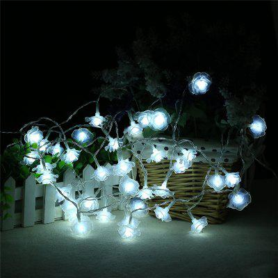 20-LED Rose Christmas Tree String Lights Décoration Lampe de couleur