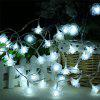 20-LED Rose Christmas Tree String Lights Décoration Lampe de couleur - BLANC
