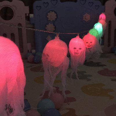 10-LED Halloween Crânio Fantasma Cordas de Luzes Lâmpada Colorida Decorada