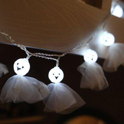 10PCS Led Halloween Ghost string Lights Decorated Colored Lights