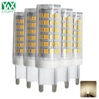 5PCS Ywxlight Dimmable G9 9W 76LED 2835SMD führte Keramik-Lampe Ac 200 - 240V
