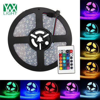 Buy WHITE AND GREEN Ywxlight 5M 5050 72W Led Light Strip 24 Keys Remote Control 5A Adapter Ac 100 240V for $23.12 in GearBest store