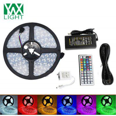 Buy WHITE AND BLACK Ywxlight 5M 5050 72W Led Light Strip 44 Keys Remote Control 5A Adapter Ac 100 240V for $23.96 in GearBest store