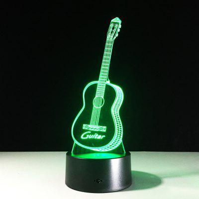 Купить со скидкой Yeduo New Action Figure 7 Colors Guitar 3D Visual Led Night Lights As Bedroom Table Lamp Best Gifts