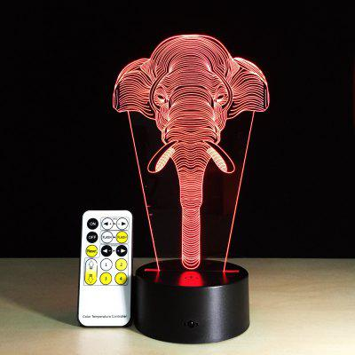 Yeduo 7 Color Change Light Elephants Lights Acrylic Vision 3D Stereoscopic Light Led Lamp Touch Switch Gift Holiday Ligh