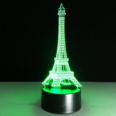Yeduo Romantic France Eiffel Tower 3D Led Night Light Rgb Changeable Mood Lamp Usb Decorative Table Lamp Kids Friends GiftDecorative Lights<br>Yeduo Romantic France Eiffel Tower 3D Led Night Light Rgb Changeable Mood Lamp Usb Decorative Table Lamp Kids Friends Gift<br><br>For: Home, Office, Cafe, Hotel, Restaurant<br>Material: Acrylic<br>Package Contents: 1 x Night Light<br>Package size (L x W x H): 22.00 x 13.00 x 10.00 cm / 8.66 x 5.12 x 3.94 inches<br>Package weight: 0.4100 kg<br>Product size (L x W x H): 22.00 x 13.00 x 9.00 cm / 8.66 x 5.12 x 3.54 inches<br>Product weight: 0.4000 kg