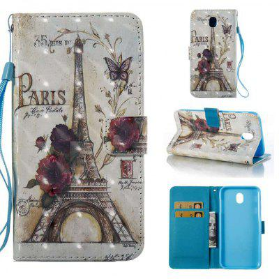 35 Towers 3D Painted Pu Phone Case for Samsung Galaxy J730