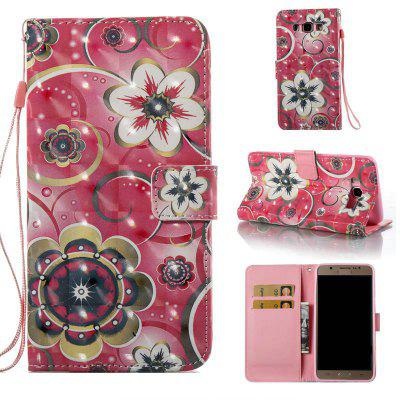 Tulip Flower 3D Painted Pu Phone Case for Samsung Galaxy J7 2016
