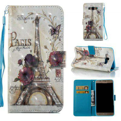 35 Towers 3D Painted Pu Phone Case for Samsung Galaxy J7 2016