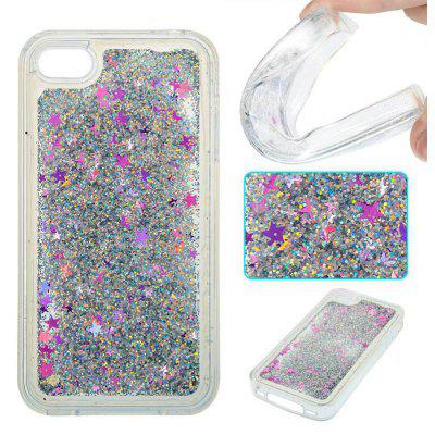 Silver Sand Purple Five-Pointed Star All Soft Tpu Quicksand Phone Case for Iphone 4 4S